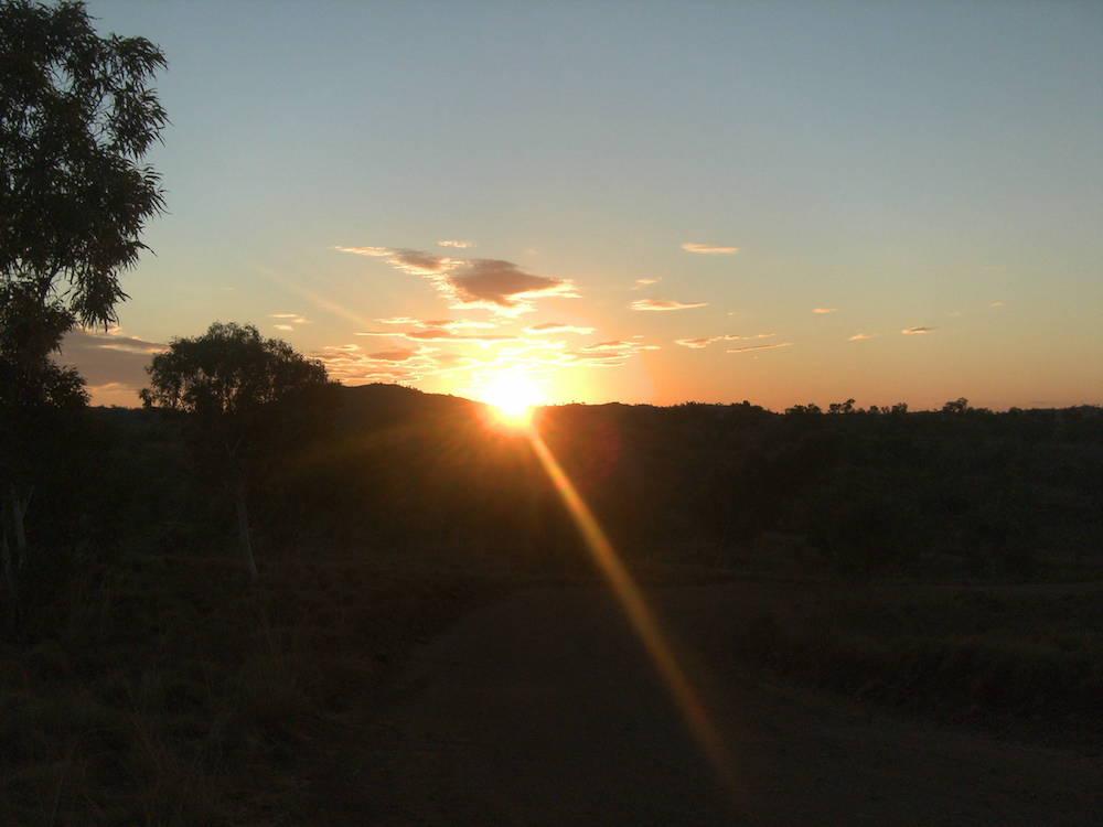 Achtsamkeit, Sonnenuntergang