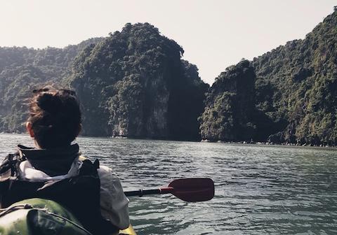Achtsamkeit, Kajak, Vietnam